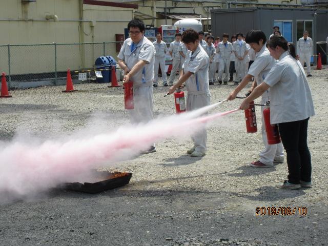 消火訓練と納涼会