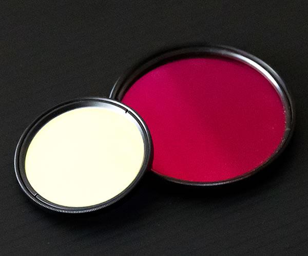色ガラス フィルター(光学薄膜追加工可能)